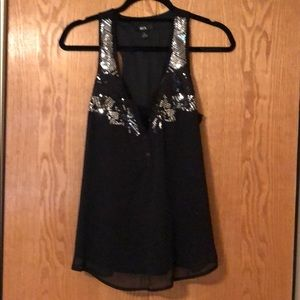 Sequin Sheer tank with liner